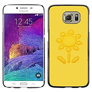 Omega Covers - Snap on Hard Back Case Cover Shell FOR Samsung Galaxy S6 - Sun Yellow Petal Drawing