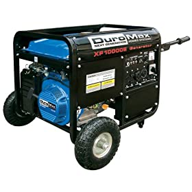DuroMax XP10000E 10,000 Watt 16 HP OHV 4-Cycle Gas Powered Portable Generator With Wheel Kit And Electric Start: Patio, Lawn &amp; Garden