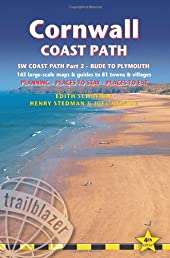 Cornwall Coast Path, 4th: (SW Coast Path Part 2) British Walking Guide with 130 large-scale walking maps, places to stay, places to eat (British Walking Guide Cornwall Coath Path Bude to Plymouth)