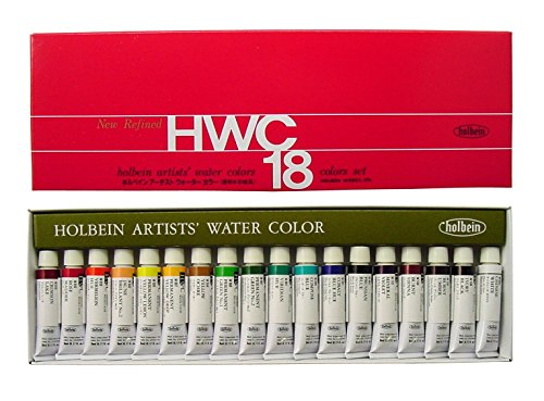 18-color-set-holbein-transparent-watercolors-japan-import