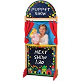 CP Toys Kid-sized Hardwood Puppet Theater with Chalkboard