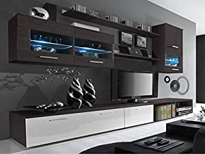 Delta living room set high gloss entertainment package - Conforama table tv ...