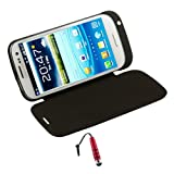 Black 3200mAh External Battery Flip Case for Samsung Galaxy S3 i9300