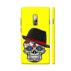 Colorpur Hipster Modern Skull On Yellow Designer Mobile Phone Case Back Cover For OnePlus 2   Artist: WonderfulDreamPicture