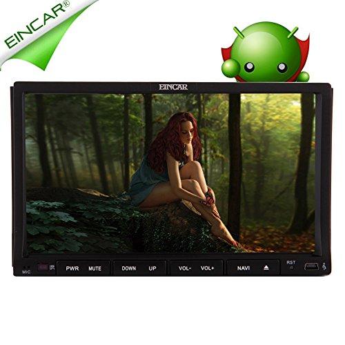 EinCar Android 5.1 GPS di navigazione 3D touchscreen capacitivo PC Doppio Din Car System Stereo capo unitš€ ricevente Auto Video BT Audio CD Lettore DVD Audio In Dash Auto radio RDS WiFi logo Mappa collegamento specchio GPS