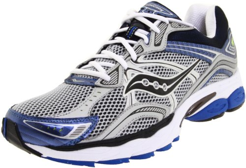 Saucony Men's Progrid Omni 10 Running Shoe,Silver/Royal,10.5 M US