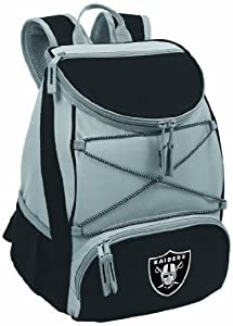 NFL Oakland Raiders PTX Insulated Backpack Cooler, Black by Picnic Time