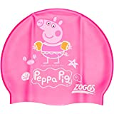 Zoggs Kids Peppa Pig Silicone Swimming Cap - Pink
