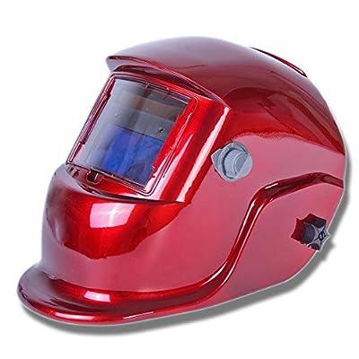 Qianqsun® Solar Auto Darkening Welders Welding Helmet Mask Tig Mag Grinding Function Red