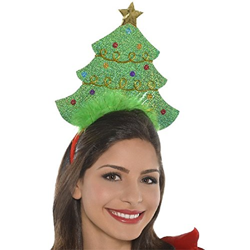 Amscan Mens Christmas Tree Headband One Size Green - 1/pkg. - 1