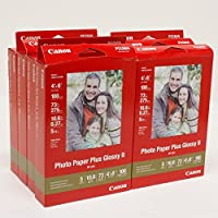 10-Pack of 100-Sheets Canon Photo Paper Plus Glossy II 4x6