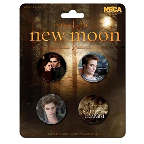 Twilight Badge Set - Edward 4pk New Moon (Breaking Dawn) - 1