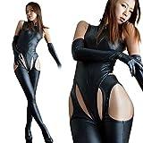 R-STYLE 女王様スタイルで男性を魅了 ボンテージスーツ フルセット (黒)