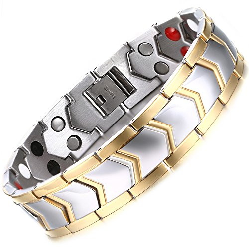 Ostan - Men's Jewelry Gothic 316L Stainless Steel Cuff Bracelet Bangle - Silver
