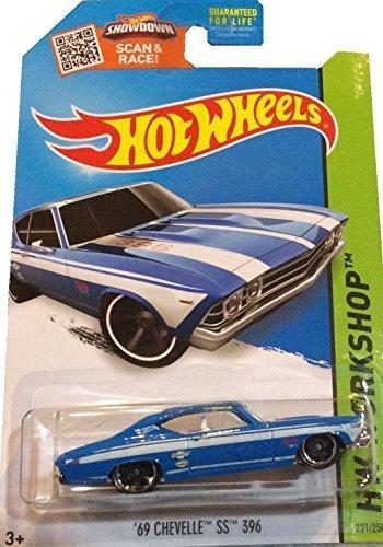 2015 Hot Wheels Kmart Exclusive Hw Workshop - '69 Chevelle SS 396 (Blue/White)