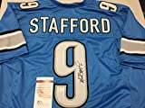 Matthew Stafford Autographed Signed Detroit Lions Custom Jersey JSA Witnessed Hologram & COA Card