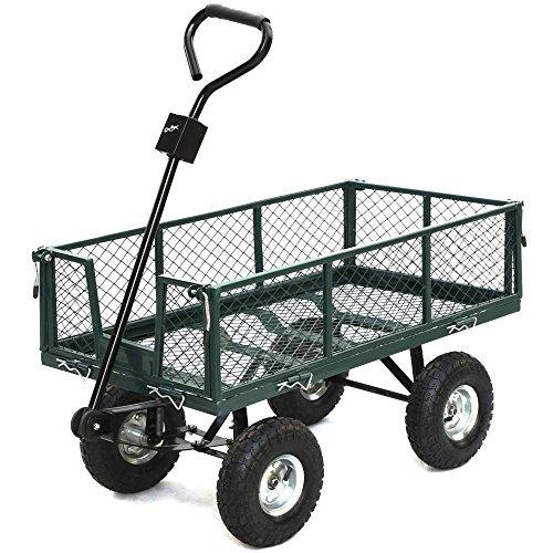 Steel Heavy Duty Utility Wagon Wheelbarrow Lawn Cart Yard Crate Garden Supplies (Ebay Shopping Cart compare prices)