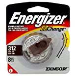 Energizer EZChange Hearing Aid Batteries, Zinc Air, Size 312, 8 ct.