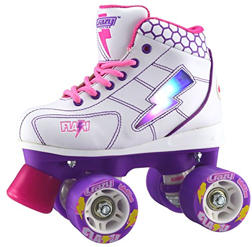 Crazy-Skates-Flash-Kids-Roller-Skate-with-LED-Light-Up-Lightning-Bolt-FWP