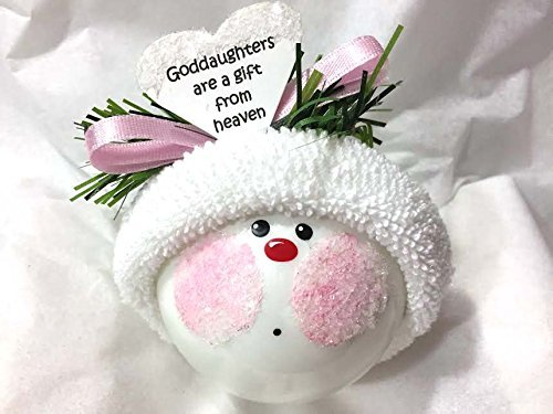 GODDAUGHTER Gift Christmas Ornament Heaven Hand Painted Handmade Personalized and Themed by Townsend Custom Gifts GODDAUGHTERS Are a Gift From Heaven - F (Personalized Godmother Ornament compare prices)