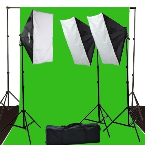 ePhoto-10-x-12-ChromaKey-Green-Screen-Digital-Photography-Video-Continuou-Lighting-Background-Support-Kit-by-ePhotoInc-H9004S3-1012G
