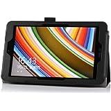 IVSO Slim-Book Etui Housse pour ASUS VivoTab Note 8 (M80TA) Windows 8.1 Tablette (Noir)