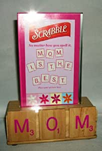 Scrabble Picture Frame - Mom Is The Best 4x5