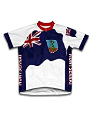 Montserrat Flag Short Sleeve Cycling Jersey for Women