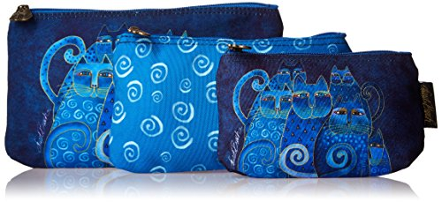 laurel-burch-laurel-burch-bolso-neceser-indigo-gatos-juego-de-3
