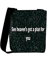 Snoogg See Heaven'S Got A Plan For You Womens Carry Around Cross Body Tote Handbag Sling Bags