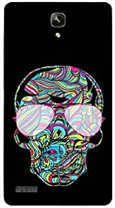 Timpax Light Weight One-piece construction Hard Back Case Cover Printed Design : A Painted Skull.Exactly Design For : Xiaomi Redmi Note