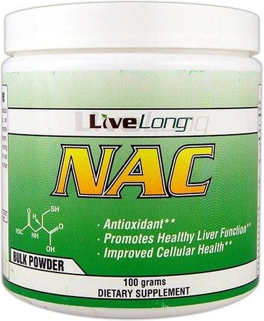 LiveLong NAC (N-Acetyl Cysteine) 100g