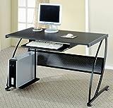 Black Finish Metal Computer Desk by Coaster Furniture