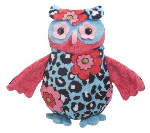 Douglas Toys Heaven Aqua Leopard Owl Stuffed Toy - 1