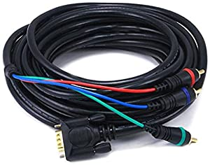 Monoprice 102174 25-Feet VGA to 3 RCA Component Video Cable (HD15-3-RCA)
