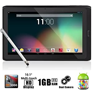 Dragon Touch® R10 10.1'' Google Android 4.1 Dual Core Tablet MID PC, Rockchip RK3066 Dual Core Cortex A9 CPU up to 1.6GHz, 1Gb RAM, 8Gb HDD, Multi-Touch Screen, Front Camera + Rear Camera, Google Play Pre-Installed, HDMI 1080P Output, Skype Video Calling