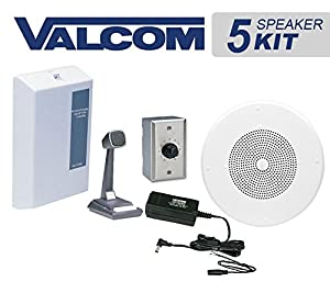 Amazon Com Valcom 5 Ceiling Speaker Overhead Amplified