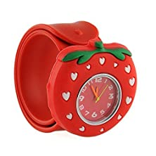 buy {Factory Direct Sale} Bendable Cartoon Gel Unisex Children Quartz Sports Watch Christmas Gift - Strawberry - Christmas Gift