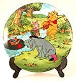 Disney Going Fishing Winnie the Pooh plate - Fun in 100 Acre Woods collection - CP1052