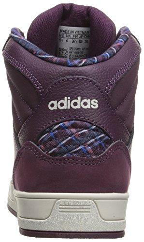 Adidas NEO Women's Raleigh Mid W Fashion Sneaker, Merlot F15/Merlot F15/Pearl Grey S14, 7.5 M US
