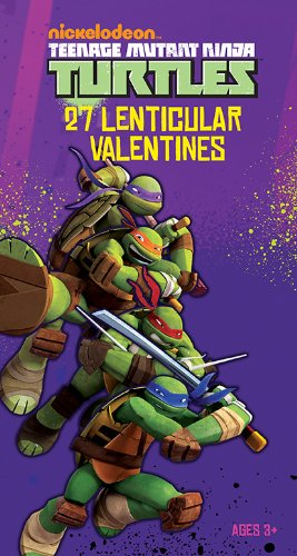 Paper Magic Deluxe Lenticular 3D Valentine Teenage Mutant Ninja Turtles Exchange Cards (27 Count)