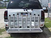 Fishing Rod Holder Rack with Fold Down Platform