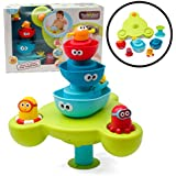 Bath Toy - Stack N' Spray Bathtub Fountain - 7 Unique Pieces With Different Functions