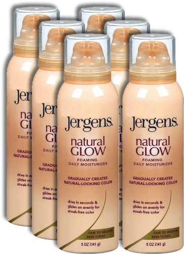 Jergens Natural Glow Foaming Daily Moisturizer 5oz, Fair to