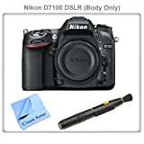 Nikon D7100 24.1 MP DX-Format CMOS Digital SLR (Body Only) + Lens Cleaning Pen & CS Microfiber Cleaning Cloth