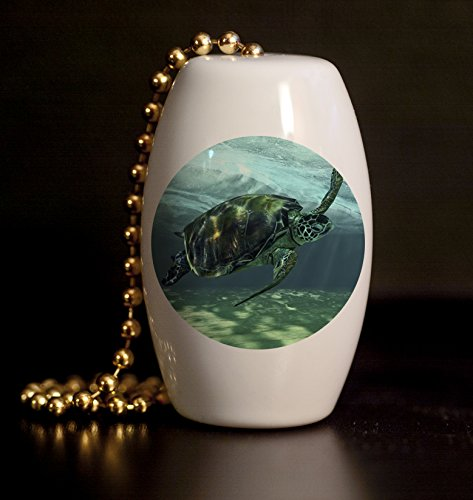 The Sea Turtle Porcelain Fan / Light Pull