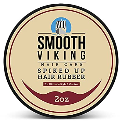 Hair Wax for Men - Strong Hold Styling Formula for All Hair Types - Best Texturizer For Long , Short , Spiky , Wild and Modern Hair Types - 2 OZ - Smooth Viking