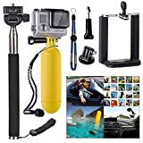 XCSOURCE Accessories Set 3-in1 Monopod + Floating + Mobile Phone Holder Mount for Gopro Hero 2 3 3+ 4 2.25-3 inch ( 5.5cm-8cm ) wide Mobile Phones: iphone 6 5s 5 / Samsung Galaxy S5 S4 NOTE 4 3 / HTC M8 other Cameras with universal 1/4 Screw OS234
