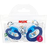 NUK Classic Happy Days Silicone Soothers Size 1 Boys (0-6 months, 2 pack)