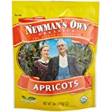 Newman's Own Organics Apricots (Dried Fruit), 6-Ounce Pouches (Pack of 12) ~ Newman's Own